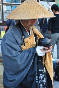 Kyoto, monk begging