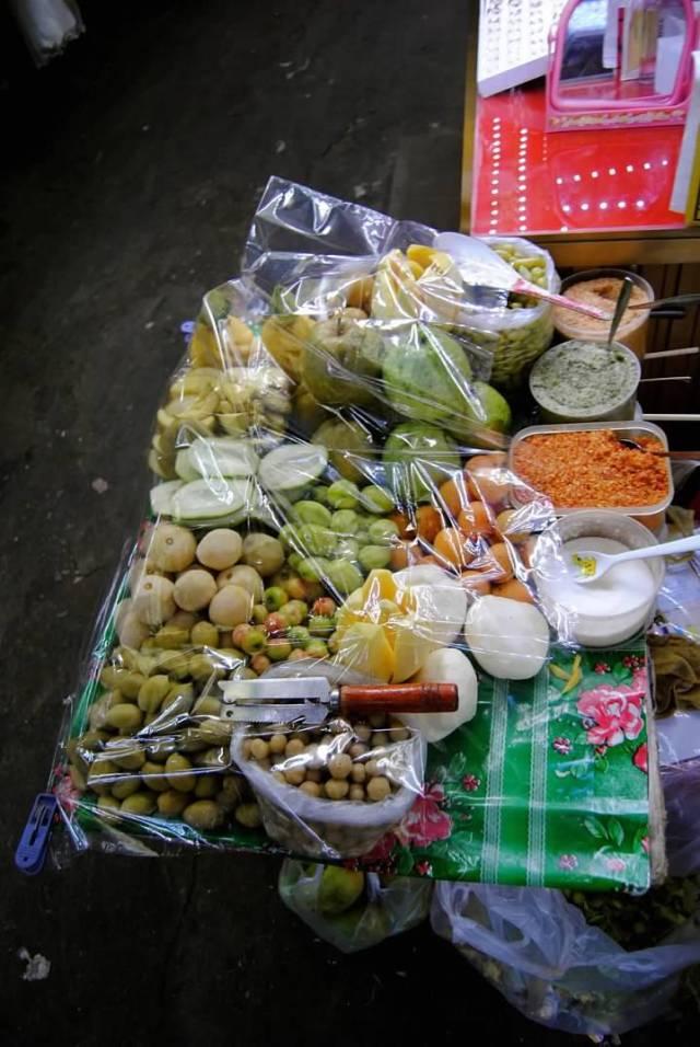 plastic over food